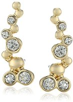 "lonna & lilly Classics"" Gold-Tone Crystal Bubble Crawler Earrings"