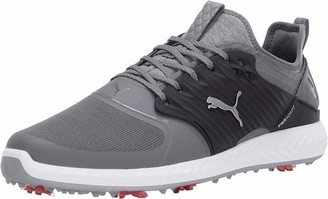 Puma Men's Ignite Pwradapt Caged Golf Shoe Gray Violet Silver White Numeric_14