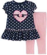 Kids Headquarters Baby Girls' 2-Pc. Heart-Print Tunic & Leggings Set