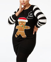 It's Our Time Trendy Plus Size Snowman Holiday Sweater
