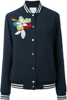 Mira Mikati sequin patch bomber - women - Polyester/Acetate/Viscose - 34
