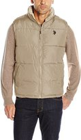 U.S. Polo Assn. Men's Signature Puffer Vest with Inner Sherpa Collar