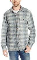 True Grit Men's Melange Blanket Shadow Plaid Long Sleeve Big Shirt