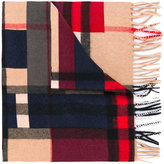 Burberry colour block check scarf - men - Cashmere - One Size