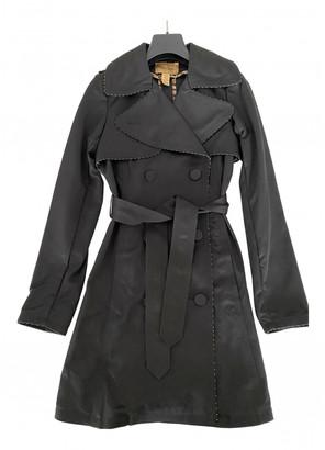 Roberto Cavalli Black Cotton Trench coats