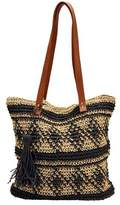 San Diego Hat Company Women's Paper Tote w/ Faux Leather Handle/Tassle BSB1726