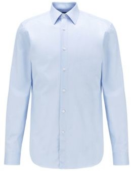 BOSS Slim-fit shirt in Italian-made cotton twill