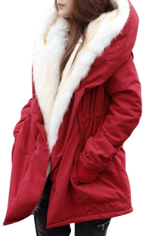 0a395ffb3a5a Coat Red Fur Hood - ShopStyle Canada