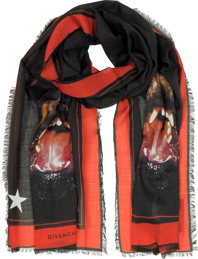 Givenchy Rottweiler Printed Cashmere and Silk Stole