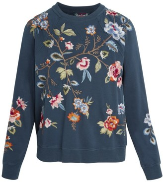 Johnny Was Renata Raglan Embroidered Sweatshirt