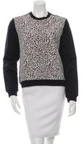 Carven Lace-Paneled Pullover Sweatshirt w/ Tags