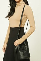 Forever 21 FOREVER 21+ Mini Faux Leather Bucket Bag