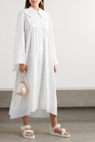 Thumbnail for your product : Simone Rocha Scalloped Embroidered Cotton-poplin Maxi Dress - White