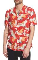 AllSaints Tsuru Regular Fit Short Sleeve Sport Shirt
