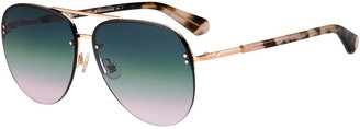 Kate Spade Jakaylas Mirrored Aviator Sunglasses