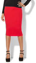 New York & Co. 7th Avenue Design Studio - Pull-On Pencil Skirt - Red - Petite