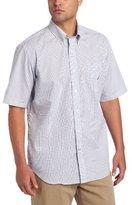 Nautica Men's Short Sleeve Poplin Plaid Shirt