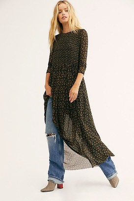 Free People Hello And Goodbye Mesh Midi Dress