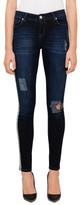 R & E RE: Foil Print Skinny Jeans