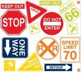 Wall Pops Road Signs Wall Art Kit
