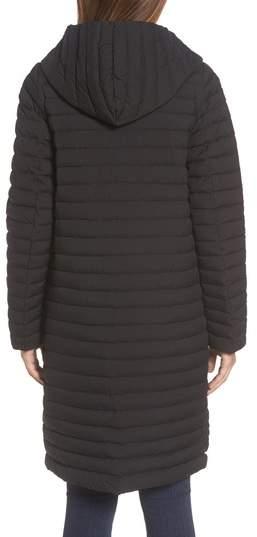 Trina Turk Women's Edith Hooded Long Coat