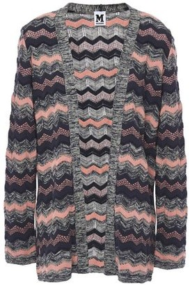 M Missoni Striped Crochet-knit Cardigan