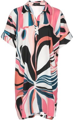 Natori loose-fit floral-print dress