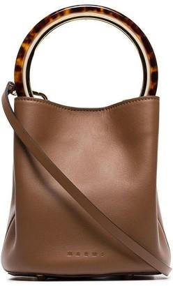 Marni Pannier resin handle leather bucket bag