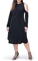 Rachel Roy Plus Size Women's Ruffle Cold Shoulder Dress