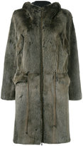 Liska - hooded drawstring coat - women - Mink Fur - M