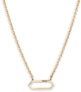 Bony Levy Simple Obsessions Open Hexagon Pendant Necklace