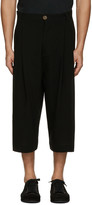 Song For The Mute Black Wool Bucket Trousers