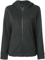 Armani Jeans signature embroidery zipped hoodie