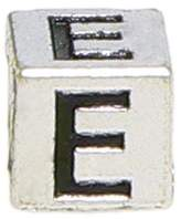 "Olympia Block Letter ""E"" Alphabet Charm - Major Brand Name Bracelet Compatible"