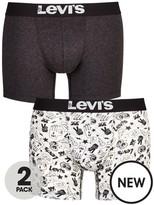 Levi's Levis 2pk Plain/emoji Boxer Brief