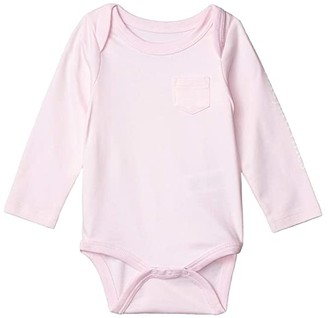 Vineyard Vines Kids Long Sleeve Vintage Whale Bodysuit (Infant) (Conch) Girl's Jumpsuit & Rompers One Piece