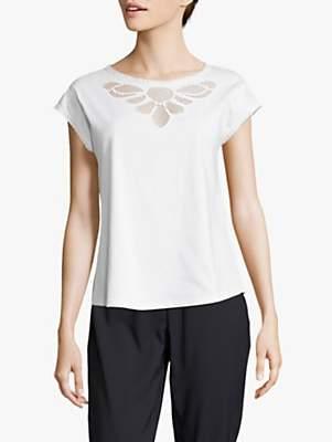 Betty Barclay Crochet Cap Sleeve Top, Bright White