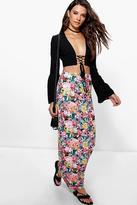 Boohoo Analisa Tropical Print Maxi Skirt