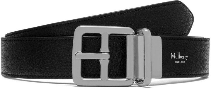 Mulberry 30mm Reversible Boho Buckle Black Small Classic Grain