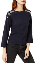 Warehouse Pearl Shoulder Jumper, Navy