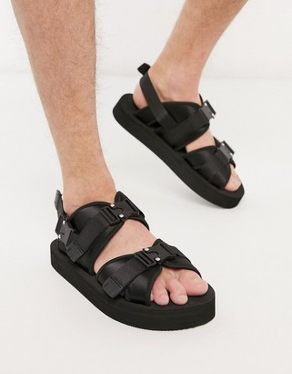 ASOS sandals with techy buckles