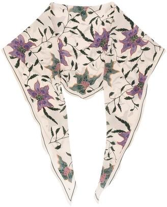 Isabel Marant Floral Print Silk Stole