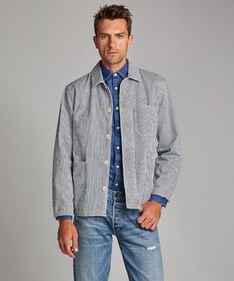 Todd Snyder Indigo Stripe Chore Jacket