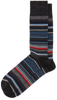 Neiman Marcus Merino-Blend Multi-Stripe Socks