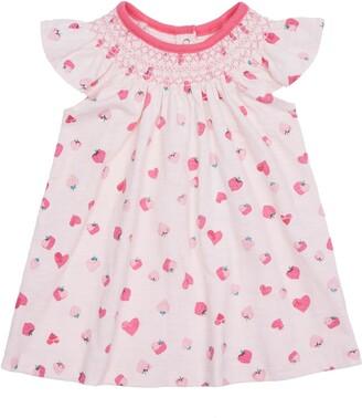 Peek Aren't You Curious Valentina Strawberry Flutter Sleeve Dress