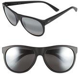 Maui Jim Women's Rising Sun 57Mm Polarizedplus2 Sunglasses - Burgundy Stripe/ Maui Rose
