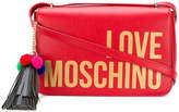 Love Moschino logo print crossbody bag