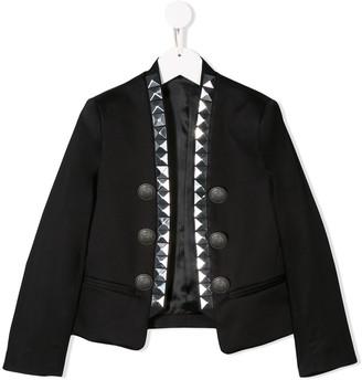 Balmain Kids studded button-embellished jacket