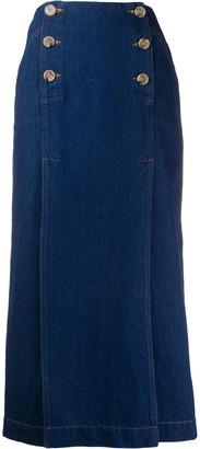 Nanushka Elke double-breasted skirt