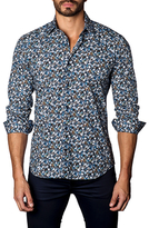 Jared Lang Graphic Printed Cotton Sportshirt